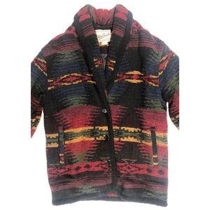 Woolrich cardigan Aztec print sweater size medium